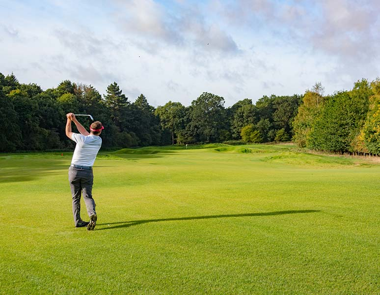 Playing on new course
