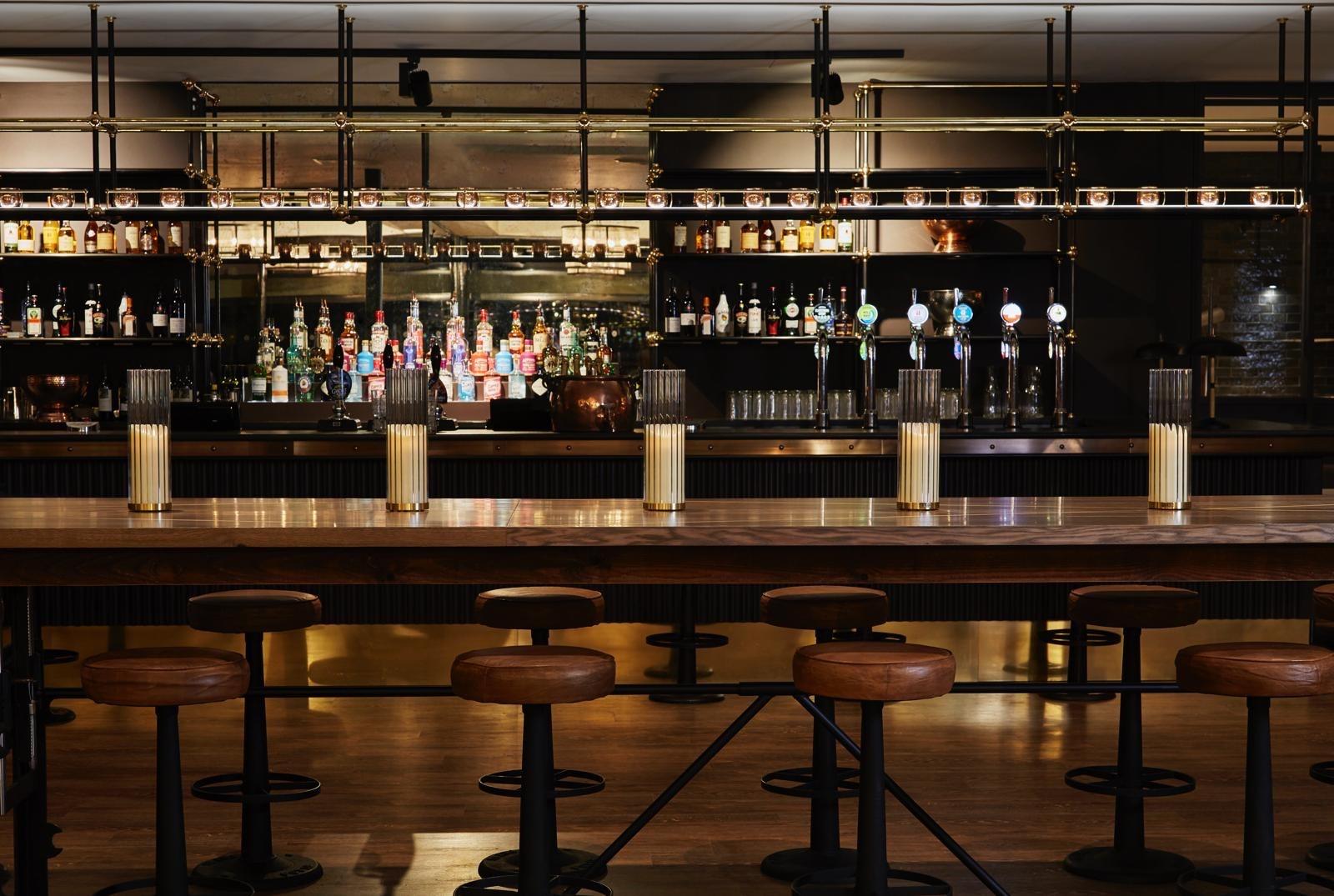 Bar area at Royal Norwich