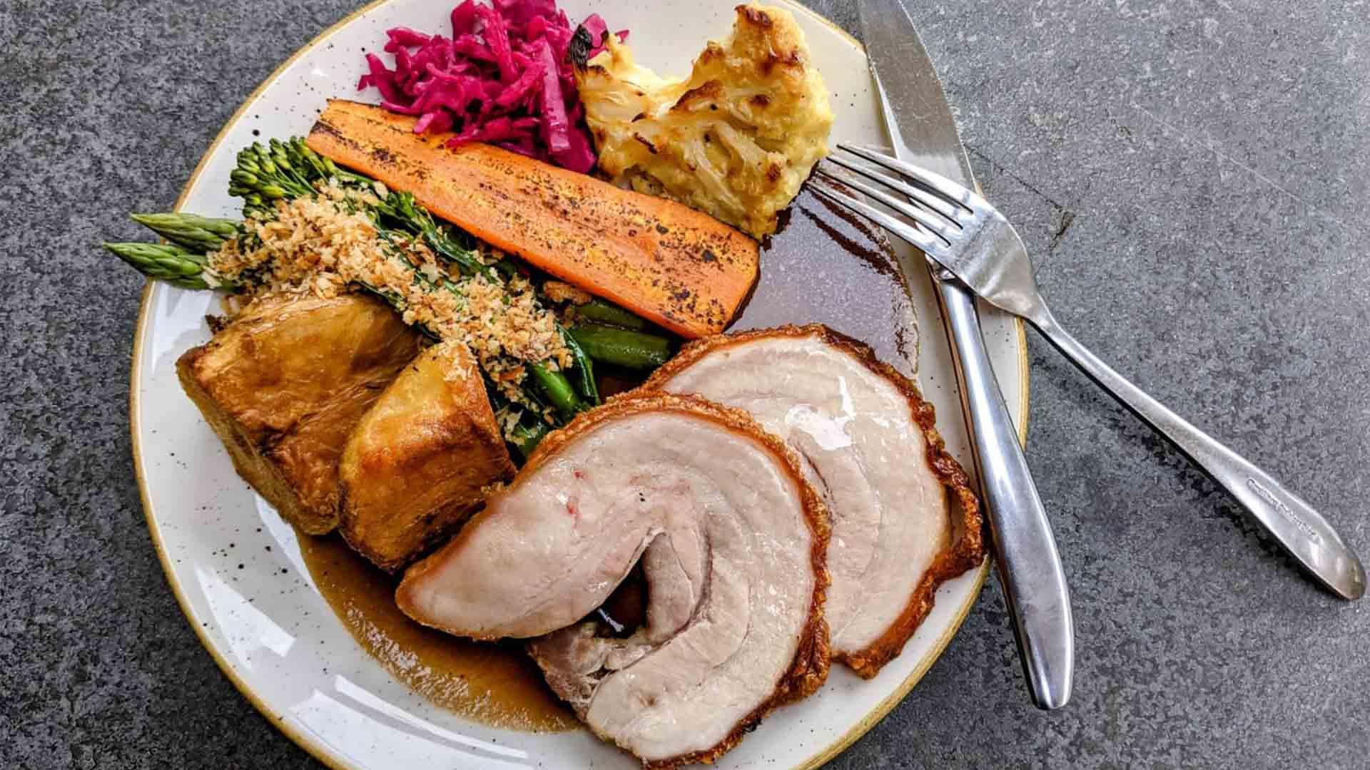 Roast Pork Hero shot - Sunday Lunch