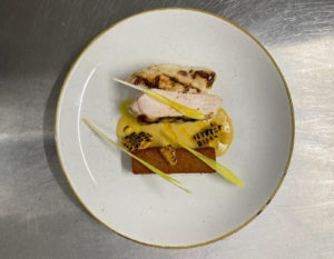 Table d-hote menu Norfolk Chicken